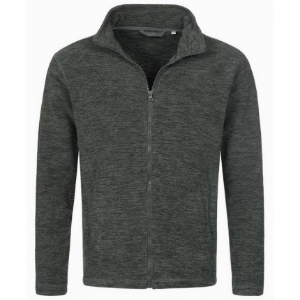 Stedman melange fleece cardigan active for him - Topgiving