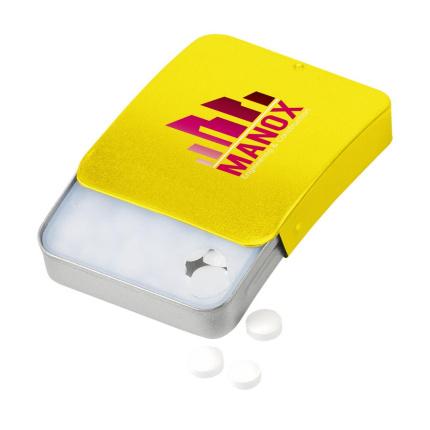 8125bb32d63 Mintslide pepermuntjes (geel) bedrukken | Topgiving.nl