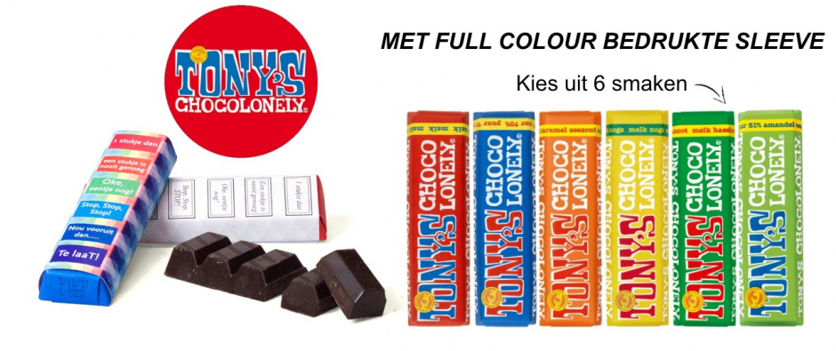 Tony's Chocolonely bedrukken - Topgiving