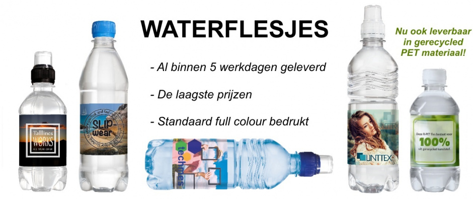 Waterflesjes bedrukken - Topgiving